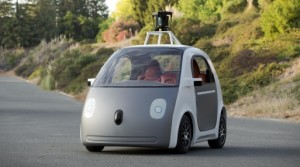 A prototype of a driverless car is seen in a photograph provided by Google in Mountain View