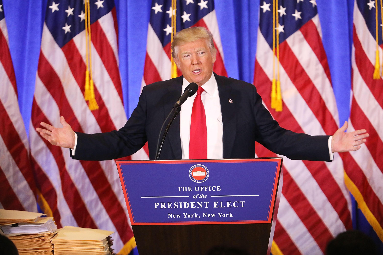 Donald Trump afirma que desde hoy comienza a trabajar
