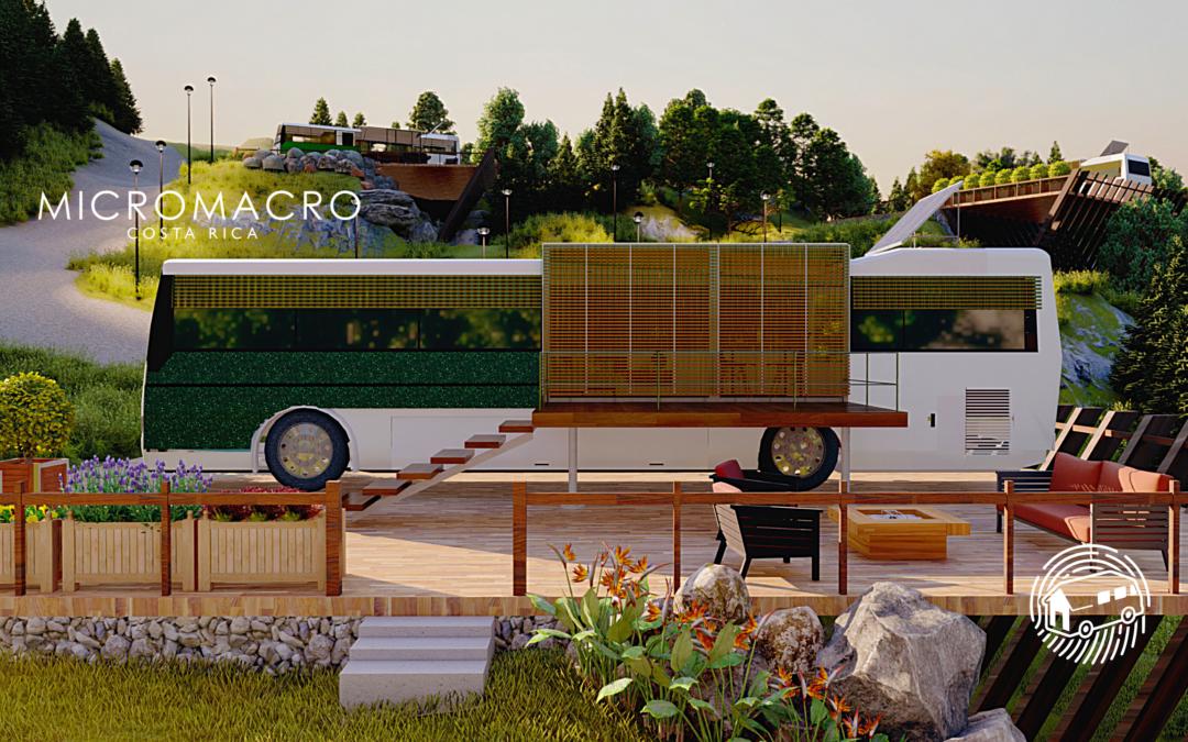 Empresa costarricense convierte autobuses en casas sostenibles de bajo costo