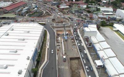 Costa Rica: Construcción de nuevo paso a desnivel de Guadalupe alcanza un 41% de avance