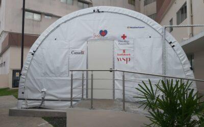 Panamá: Gobierno inaugura hospital móvil donado por Scotiabank