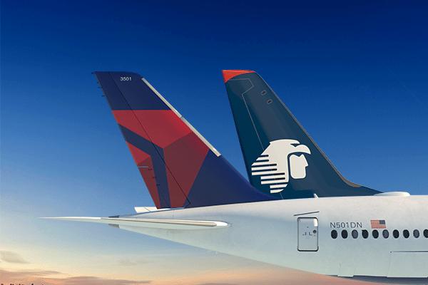 Delta y Aeroméxico planean más de 4.300 vuelos en diciembre entre México y Estados Unidos