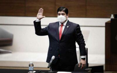 Alvarado apunta a un acuerdo con el FMI y a derrotar la pandemia en Costa Rica