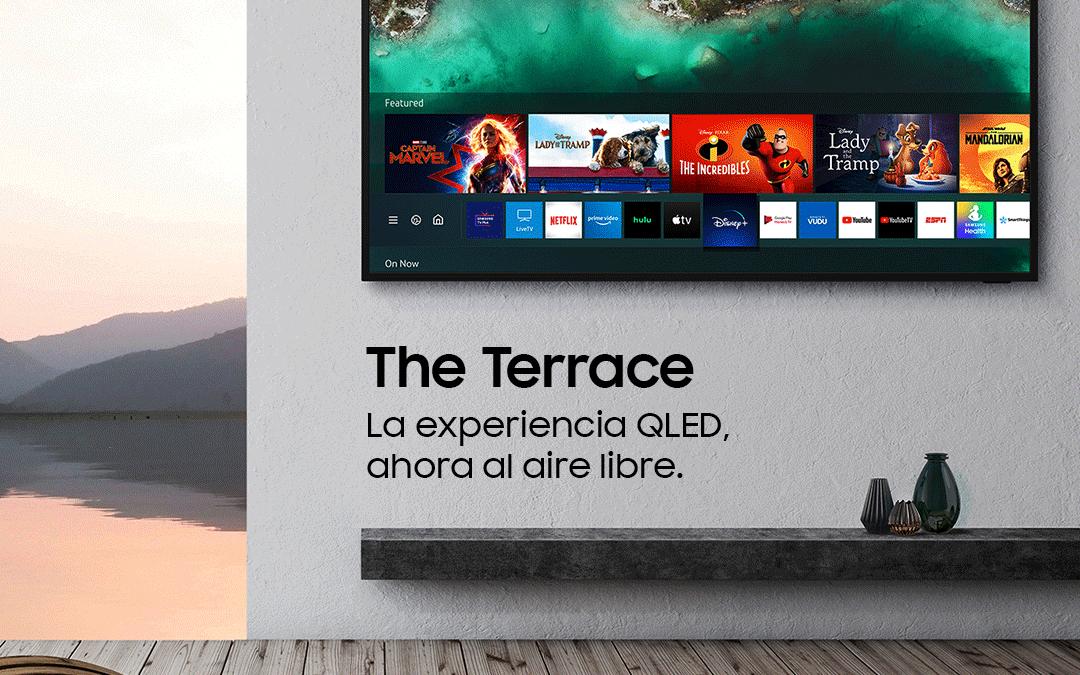 """""""The Terrace TV"""" de Samsung recibe la primera verificación de visibilidad en exteriores de la industria de UL"""