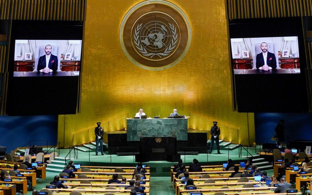 Bukele dice ante la ONU que el «mundo es más pesimista y más individualista»