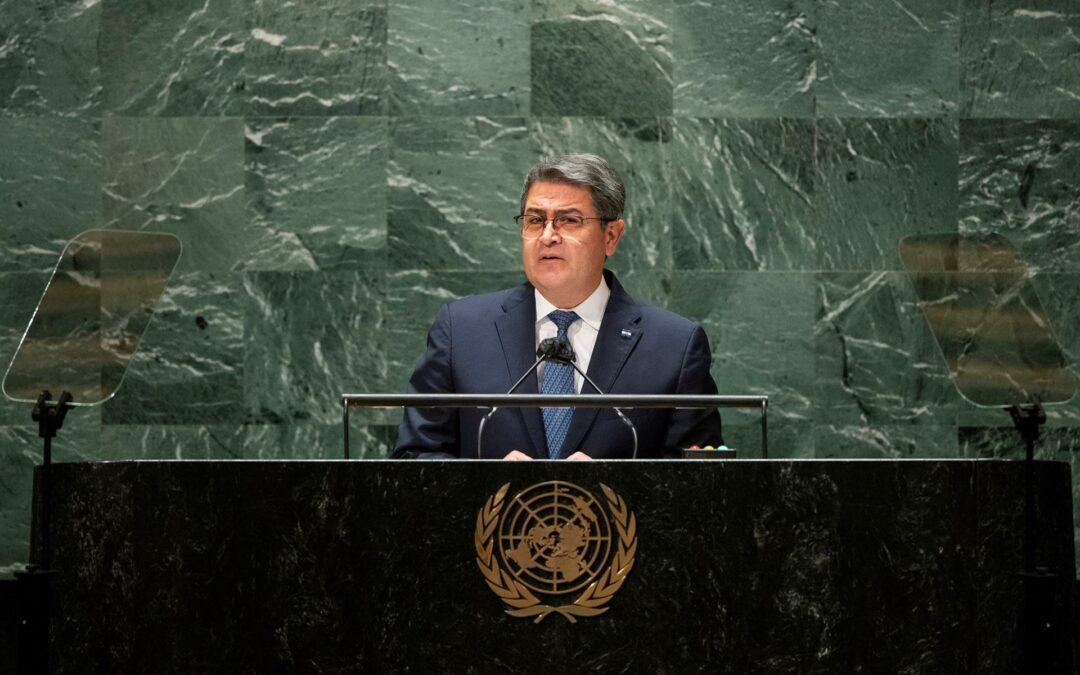 Presidente de Honduras propone en la ONU transformar el sistema de salud