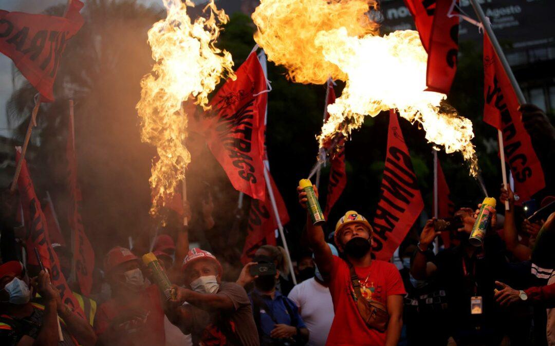 Sindicatos piden salarios dignos y que se acabe la corrupción en Panamá