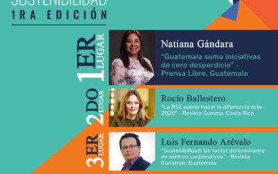 Progreso anuncia a los ganadores del Premio Regional de Periodismo en Sostenibilidad