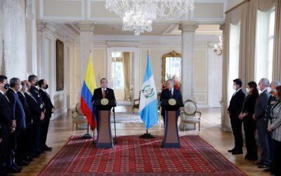 Colombia y Guatemala acuerdan reforzar su lucha contra el crimen trasnacional